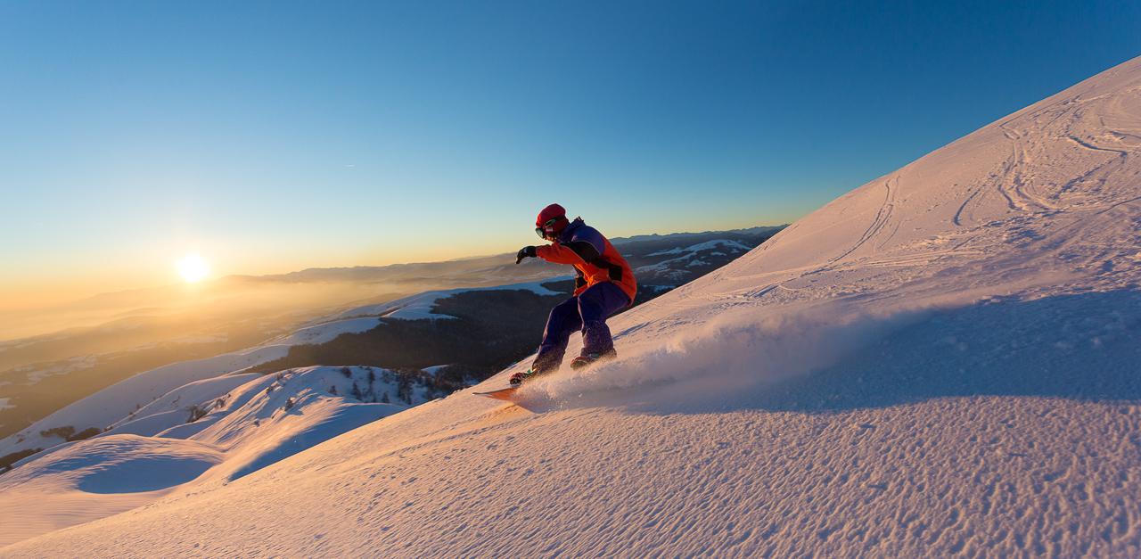 Snowboard sul Monte Grappa