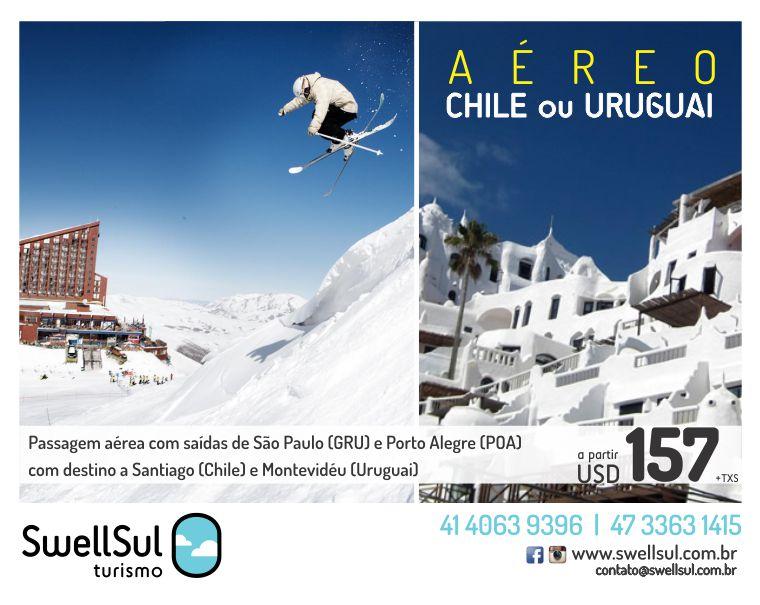 990ef3fb2b Chile ou Montevidéu Imperdível - SWELLSUL